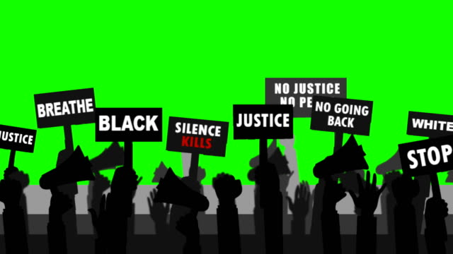 Black People Protest ( Green Screen ) 4K Resolution, Protest, US, Green Screen president stock videos & royalty-free footage