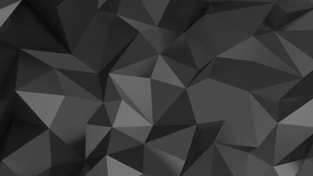 vídeos de stock e filmes b-roll de black polygonal background - modelação low poly