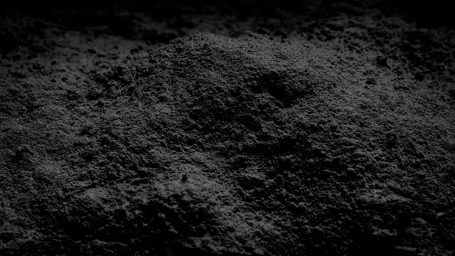 Black Powder Rotating Pile of black powder turning slowly coal stock videos & royalty-free footage