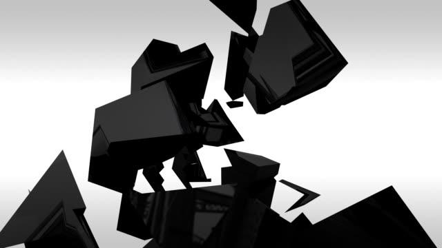 black reflective pyramid breacking - pyramidform bildbanksvideor och videomaterial från bakom kulisserna