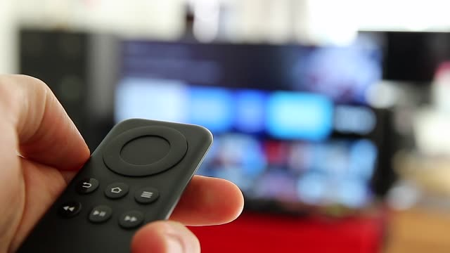 Black Remote Controller Watching Smart TV And Using Modern Black Remote Controller, Blurred TV watching tv stock videos & royalty-free footage