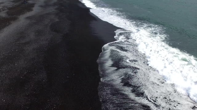 black sand beach at iceland video