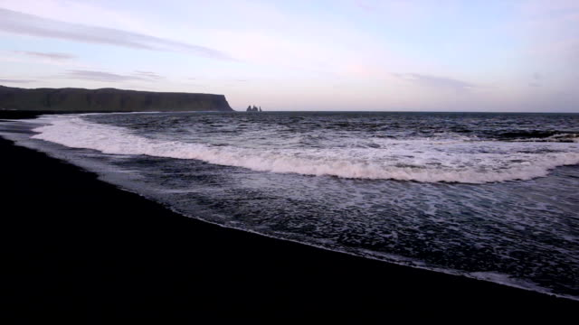 Black sand beach video