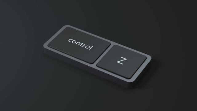 black scene abstract keyboard control and Z button 3d render motion video