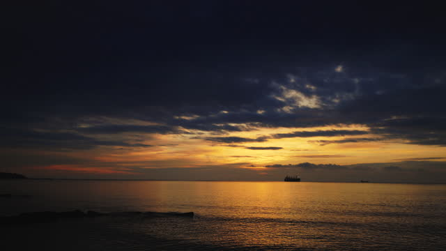 Black Sea with majestic Sunrise Cloudscape