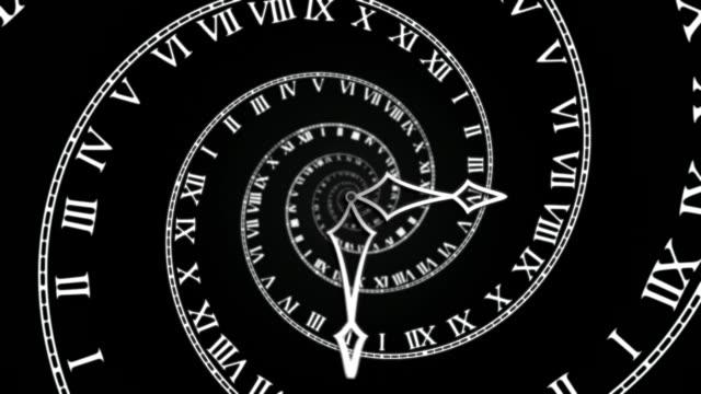 Black Spiral Clock loop video
