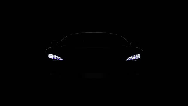 black sportscar silhouette on black background black  sportscar silhouette on black background, car of my own generic design, legal to use. luxury car stock videos & royalty-free footage