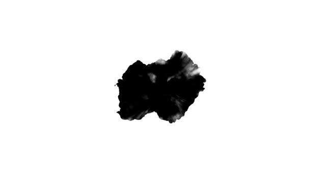 black spot dripping - dipinto ad acquerelli video stock e b–roll