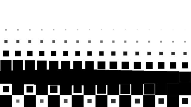 CHESSBOARD PATTERN : black squares, line progress, finally disappear (TRANSITION) video