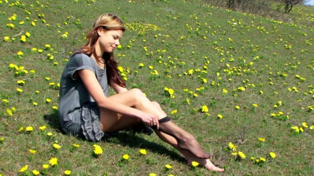 black stockings - strumpbyxor bildbanksvideor och videomaterial från bakom kulisserna