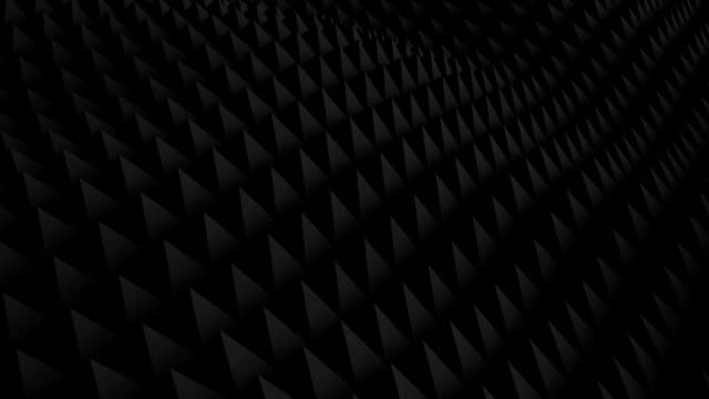 Black surface waving 3D render. Seamless loop animation video