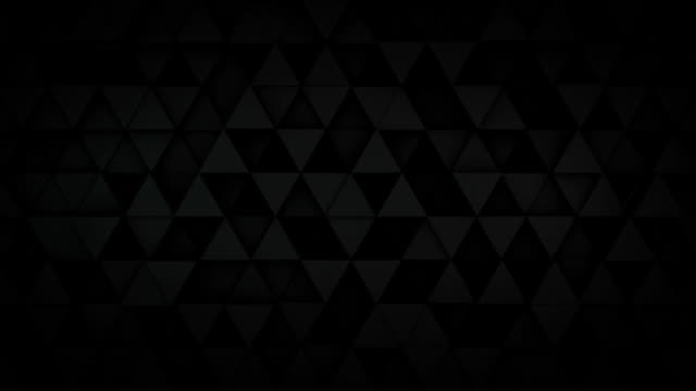 Black triangles extruding surface 3D loopable animation video
