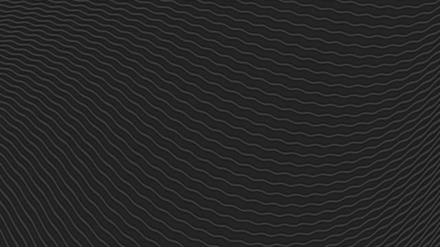 black waves abstract video animation - clip art video stock e b–roll