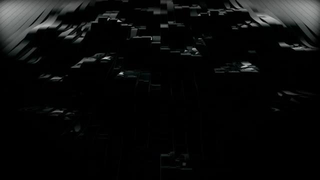 righe nero di 3d realizzata - metallizzato video stock e b–roll