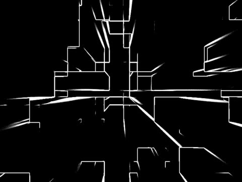 Black & White glowing edges - digital animation Made using fractal noise and some edge detection in AE. mare stock videos & royalty-free footage