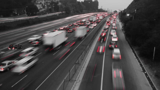 Black & White Traffic Time Lapse video