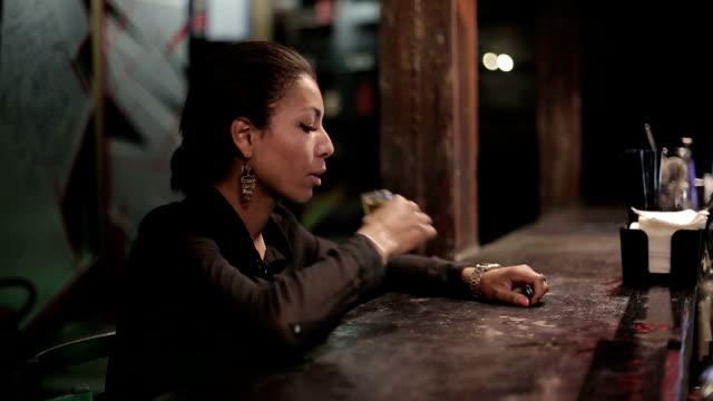 Black woman gets drunk at a bar video
