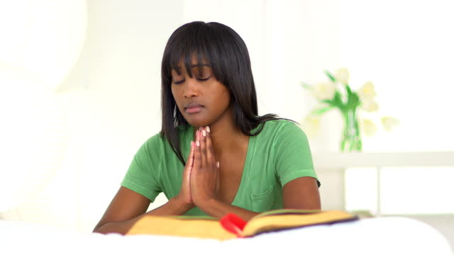 Black woman praying video