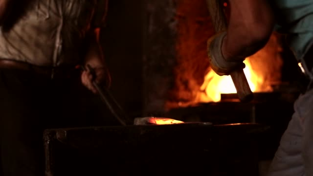 Blacksmith At Work Blacksmith At Work wrought iron stock videos & royalty-free footage