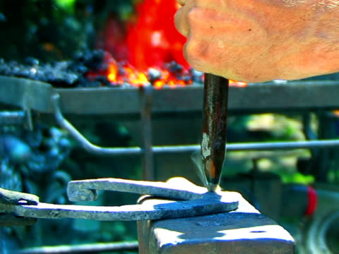 blacksmith at work - {{searchview.contributor.websiteurl}} stock videos & royalty-free footage