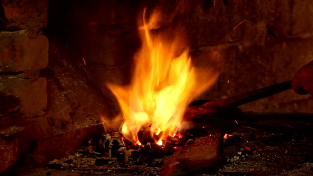 Blacksmith fire (HD) video