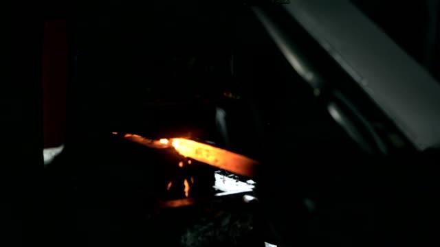 HD SLOW MOTION: Blacksmith Hydraulic Press video