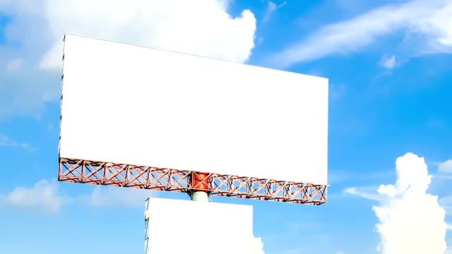 blank advertising billborad against blue sky video