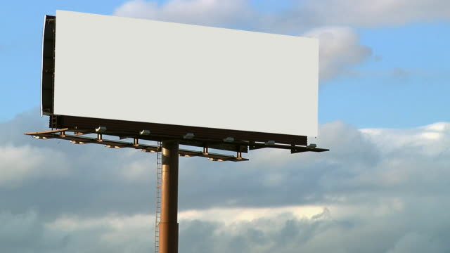 Blank Billboard With Cloud Background Close Up 1080p24 video