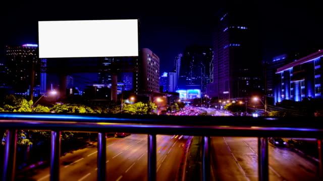 Blank Billboard with Street Traffic video