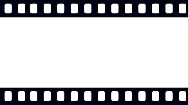 leere kamera filmrolle scrollen horizontal von links nach der richtigen hintergrundanimation - flat design videos stock-videos und b-roll-filmmaterial