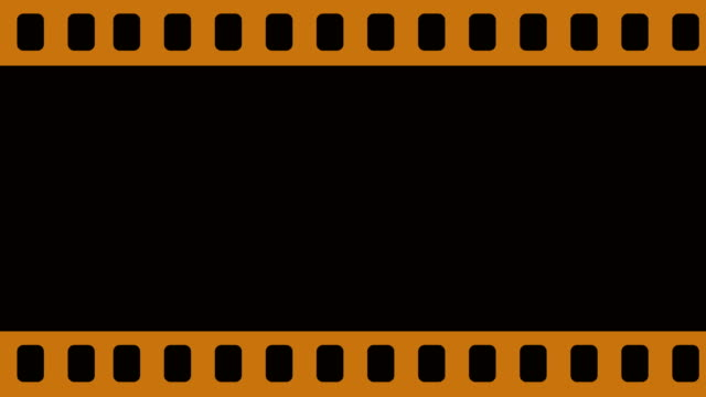 Blank Camera Film Reel Scrolling Horizontally From Left To The Right Background Animation