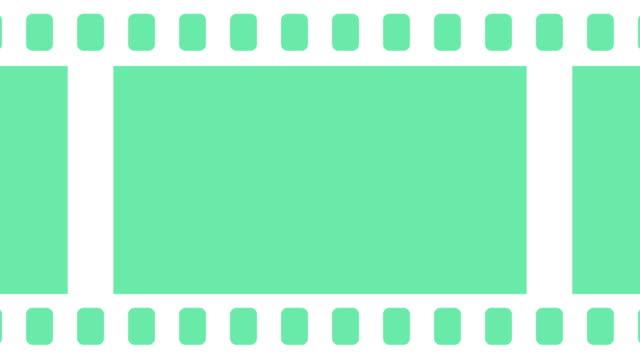 leere filmrolle fliegen und fliegen hintergrundanimation - flat design videos stock-videos und b-roll-filmmaterial