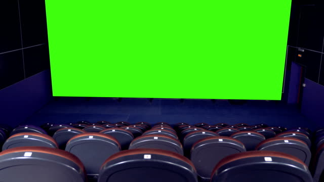 Blank Movie Theater Screen With Green Screen Background In Empty Cinema Hall Stock Video Download Video Clip Now Istock