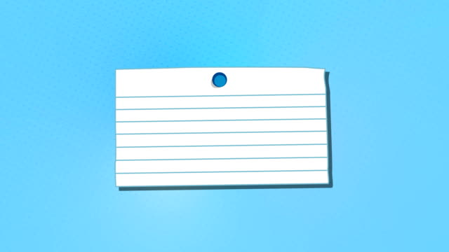 Blank Note With Thumbtack, Alpha Included