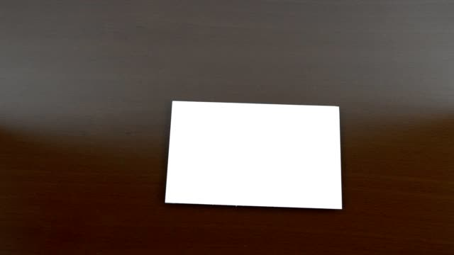 blank placard launched - business card stock videos & royalty-free footage
