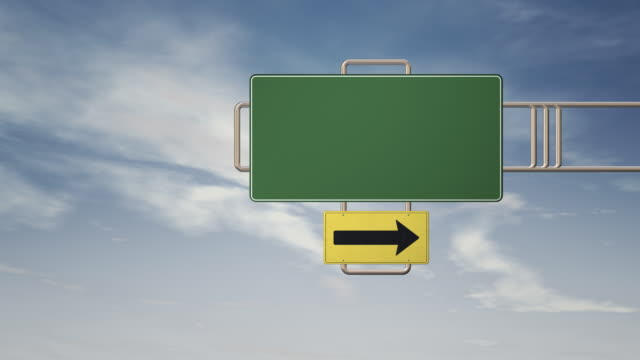 HD blank road sign