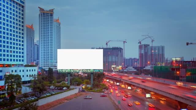 Blank Screen Billboard in Bangkok video