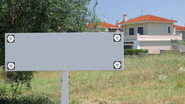 Blank sign of real estate advert video