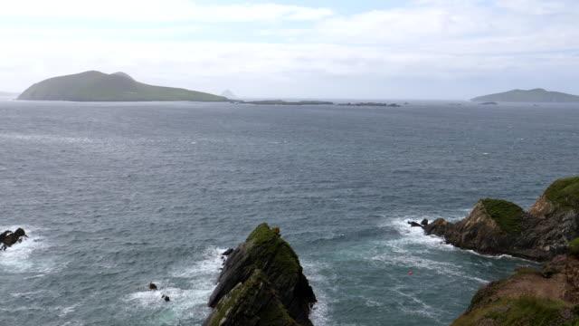 Bидео Blasket islands of Ireland pan