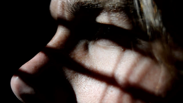 Blinds - Young Man Sneaking & Peeking