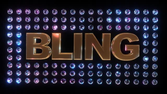bling - bling bling stok videoları ve detay görüntü çekimi