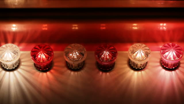 blinking bulbs - circus stok videoları ve detay görüntü çekimi