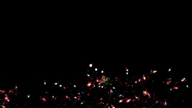 stockvideo's en b-roll-footage met blinking christmas lights at night (hd,ntsc) - christmas lights