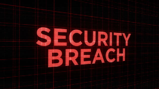 Blinking ominous futuristic glowing  typography - Security Breach video