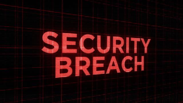 Parpadear futurista tipografía brillante agorero - violación de la seguridad - vídeo