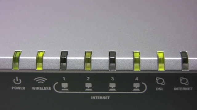 Blinking router (HD) video