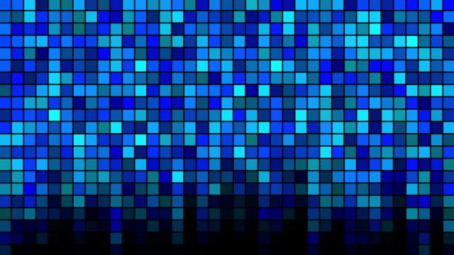 Blinking Tiles Background - Loop Blue video