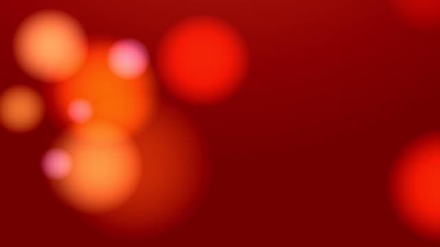 Bllured Lights Background Loop (Red) video