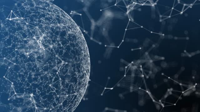 stockvideo's en b-roll-footage met 4k blockchain concept - low poly modelleren
