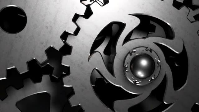 Block rotating gears video